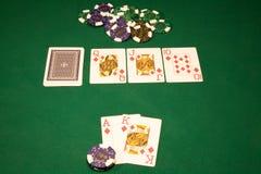 Triunfo en el póker del casino Imágenes de archivo libres de regalías