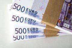Triunfo euro del dinero Fotografía de archivo libre de regalías