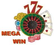 Triunfo mega en casino Imagenes de archivo