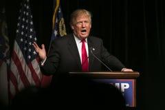 Triunfo republicano de Donald J del candidato presidencial Foto de archivo libre de regalías