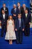 Triunfo y Donald Trump de Melania foto de archivo libre de regalías