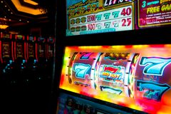 777 TRIUNFOS por el casino de Las Vegas imágenes de archivo libres de regalías