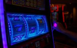 777 TRIUNFOS por el casino de Las Vegas imagen de archivo libre de regalías