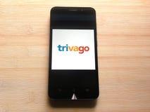 Trivago app στοκ φωτογραφία