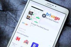 Trivago app na Google sztuce obrazy stock