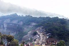 Trivalling around the mountain of Tangkuban Perahu in Bandung, Indonesia. Bandung, INDONESIA - APRIL 03, 2015: Trivalling around the mountain of Tangkuban Perahu Royalty Free Stock Photography
