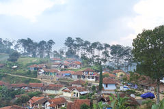 Trivalling rond de berg van Tangkuban Perahu in Bandung, Indonesië Stock Foto's