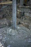 Trivellazione petrolifera con fango Fotografie Stock Libere da Diritti