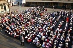 Trivelli di evacuamento tenuti Fotografia Stock Libera da Diritti