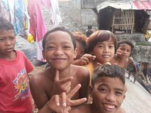 trives di badjao qui a Davao Fotografie Stock Libere da Diritti