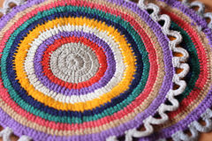 Trivet. With concentric color circles Stock Photography