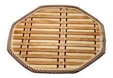 Trivet de bambú de la cocina imagen de archivo libre de regalías