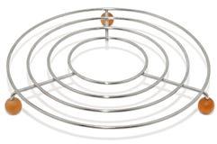 Trivet para utensílios de mesa quentes, isolado no branco foto de stock royalty free