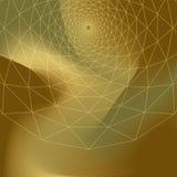 Trivex planar: Linhas geométricas do redemoinho triangular na planície do inclinação ilustração do vetor