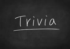 Trivia. Concept word on blackboard background Stock Photo