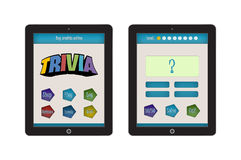 Trivia Game App Template for mobile app and website design Stock Photography