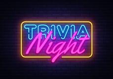 Trivia Night neon sign vector. Quiz Time Design template neon sign, light banner, neon signboard, nightly bright. Advertising, light inscription. Vector vector illustration