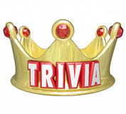 Trivia Word King Queen Crown Competition Game Winner Royalty Free Stock Image