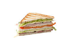 Trójbok duża kanapka Fotografia Stock