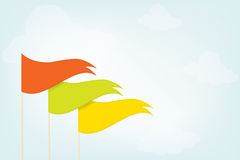 Trójgraniaste flaga w niebie Zdjęcie Stock
