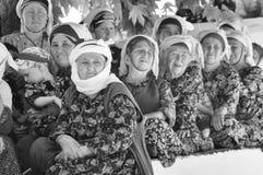 Türkische Frauen im traditionellen Tuch Stockbild
