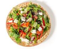Türkischer Salat von oben Stockfotos