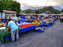 Türkiye Pazarı, Turkish market in Kemer, Antalya Royalty Free Stock Photos