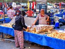 Türkiye Pazarı, Turkish market in Kemer, Antalya Royalty Free Stock Photo