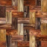 Träkvarter som staplas för sömlös bakgrund Arkivfoto