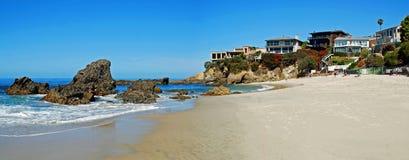 Träliten vik, Laguna Beach, Kalifornien Arkivbild