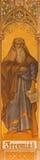 Trnava - нео-готическая фреска пророка Иеремии Leopold Bruckner (1905 до 1906) в церков St Nicholas Стоковые Фото