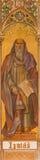 Trnava - нео-готическая фреска пророка Исаии Leopold Bruckner (1905 до 1906) в церков St Nicholas Стоковое фото RF