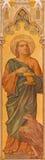 Trnava - нео-готическая фреска St. John евангелист Leopold Bruckner (1905 до 1906) в церков St Nicholas Стоковая Фотография