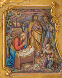 Trnava - Adoration of pastores carved relief Royalty Free Stock Photo