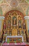 Trnava - altare laterale di St Joseph Fotografia Stock Libera da Diritti