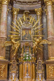 Trnava - The baroque altar of Virgin Mary in St. Nicholas church and Virgin Mary chapel designed by A. Huetter in 17 cent. Royalty Free Stock Image