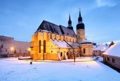 Trnava church, Slovakia - Saint Nicolas at winter Stock Photos