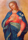 Trnava - coeur de Vierge Marie Photographie stock