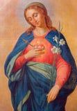 Trnava - coração da Virgem Maria Fotografia de Stock