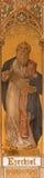 Trnava - dengotiska freskomålningen av profeten Ezekiel av Leopold Bruckner (1905 - 1906) i den St Nicholas kyrkan Fotografering för Bildbyråer