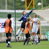 Trnava - Djursholm soccer game Stock Photo