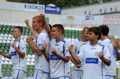 Trnava-Djursholm soccer game Royalty Free Stock Photo
