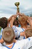Trnava-Djursholm soccer game Stock Photo