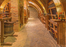 Trnava - Indoor of wine cellar of great Slovak producer  Royalty Free Stock Image