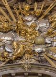 Trnava - la scultura di Dio il padre dall'altare nella cappella di vergine Maria nella chiesa di San Nicola Immagine Stock Libera da Diritti