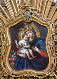 Trnava - Madonna from Regensburg on the side altar from 18. cent. Royalty Free Stock Photography