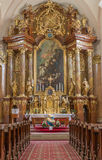 Trnava - Main altar (1755-1757) in Jesuits church. Stock Photography