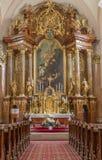 Trnava - Main altar (1755-1757) in Jesuits church. Stock Photography
