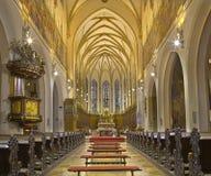 Trnava - nave gothic St Nicholas kościół Obraz Royalty Free
