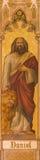 Trnava - The neo-gothic fresco of prophet Daniel by Leopold Bruckner (1905 - 1906) in Saint Nicholas church. Stock Photo